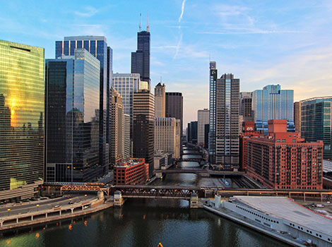 Chicago Downtown Water Buildings | GreenBee