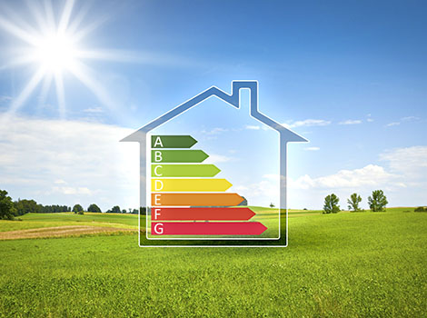 Energy Efficiency Chart House Outdoors | GreenBee