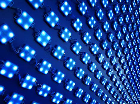 Led Light Wall Blue   GreenBee