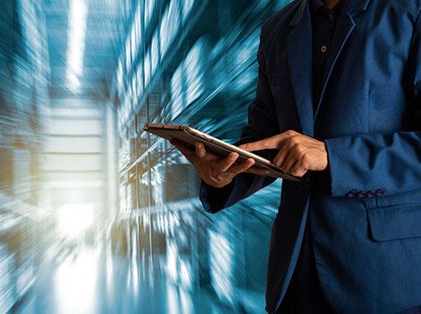 Businessman Tablet Warehouse | GreenBee