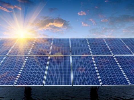 Solar Panels Sun Sky Water | GreenBee